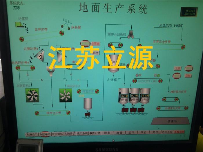 煤矿地面生产系统集中控制主要用于从井口主井皮带提升(斜井)或箕斗